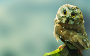 simple background, owl, gradient, animals, birds, artwork