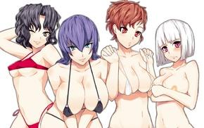 Amagami, Tanamachi Kaoru, Persona 3, Togame, Busujima Saeko, anime girls
