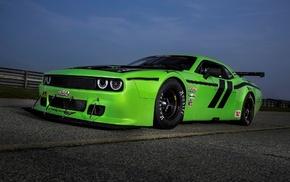 green cars, Dodge, Dodge Challenger SRT, Dodge Challenger, Dodge Challenger SRT Trans, Am