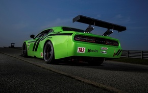 Dodge Challenger SRT Trans, Am, Dodge Challenger, green cars, Dodge Challenger SRT, Dodge