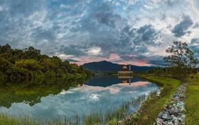 building, reflection, landscape, rock, nature, Malaysia