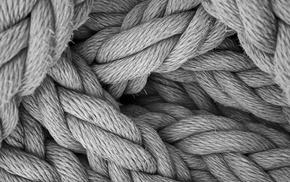 ropes, monochrome, depth of field, minimalism