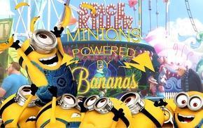 happy, minions, Despicable Me, bananas