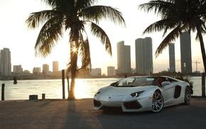 Miami, Lamborghini Aventador, Lamborghini, Lamborghini Aventador LP700, 4 Roadster