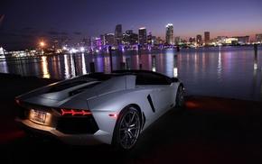 Lamborghini, Lamborghini Aventador, Lamborghini Aventador LP700, 4 Roadster, Miami