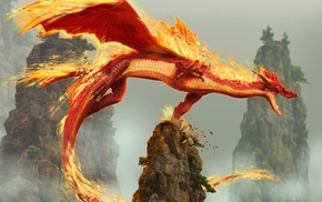 fire, dragon