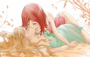 yuri, kissing, closed eyes, Kingdom Hearts, Kairi, Namine Kingdom Hearts