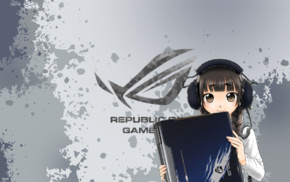 anime girls, ASUS ROG, Republic of Gamers