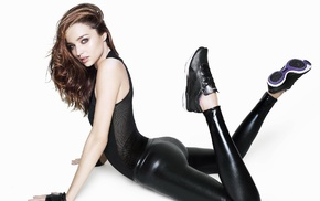 leather, leather pants, model, girl, Miranda Kerr