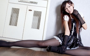 latex, pantyhose, Asian, high heels, girl