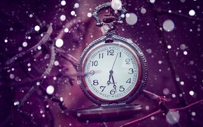bokeh, twigs, clocks, vintage