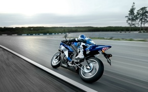 race tracks, Yamaha R1, car