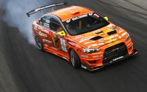 drift, Mitsubishi, car