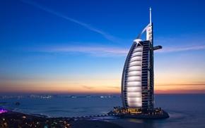 architecture, cityscape, Burj Al Arab, Dubai, building