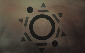 Thirty Seconds To Mars, digital art, triangle, artwork, circle, geometry
