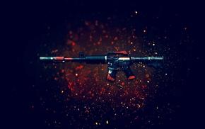 assault rifle, gun, Counter, Strike Global Offensive, weapon, M4A1