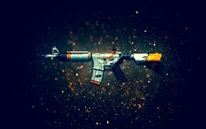 M4A4, Counter, Strike Global Offensive, gun, assault rifle, weapon