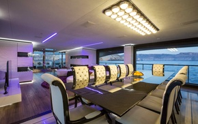 interiors, interior design, Lounge, material style, chair, yacht
