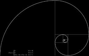 black background, golden ratio, spiral, Fibonacci sequence, mathematics, square