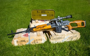 gun, sniper rifle, Romanian PSL, Dragunov
