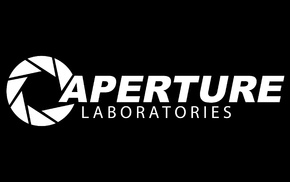 Aperture Laboratories, Portal, Portal 2, black, PC gaming, aperture