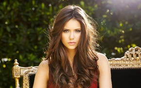 Nina Dobrev, girl, Arrow, hazel eyes, brunette, actress