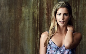 actress, blue eyes, blonde, Emily Bett Rickards, girl