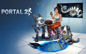 Chell, video games, Valve, Portal Gun, GLaDOS, Portal 2
