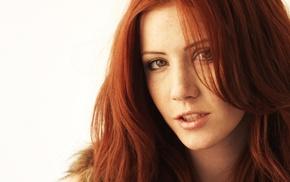 redhead, face, girl, Elle Alexandra