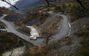 river, bridge, rally cars, Rally, car, tilt shift