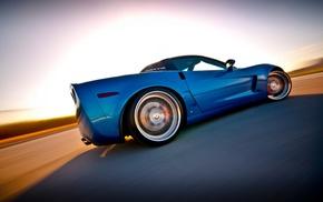 Chevrolet Corvette, blue cars, car