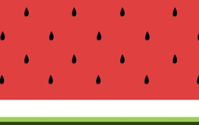 lines, digital art, watermelons, abstract, green, white