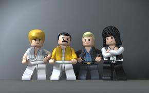 digital art, LEGO, Freddie Mercury, Queen, legend, musicians