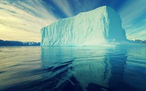 landscape, snow, Antarctica, nature, blue, clouds