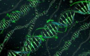 abstract, dots, green, DNA, digital art, CGI