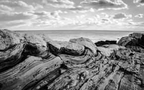 rock, coast, Maine, nature, USA, landscape