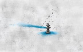 artwork, water, dirt, digital art, white background, splashes