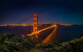 bridge, architecture, landscape, San Francisco, Golden Gate Bridge