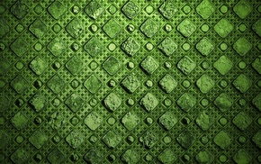 pattern, green, dots, minimalism, square, abstract