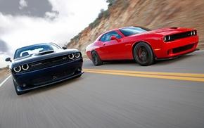 muscle cars, challenger, American cars, Dodge Challenger Hellcat, Dodge, SRT