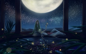 moon, stars, Fate Series, Gilgamesh