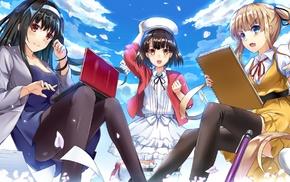 anime girls, Kato Megumi, anime, Sawamura Eriri Spencer, Saenai Heroine no Sodatekata, Kasumigaoka Utaha