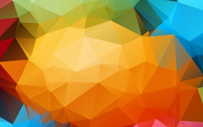 low poly, colorful, triangle, abstract, digital art