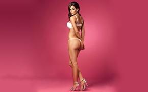 Natalia Vlez, brunette, high heels, ass, thong, lingerie