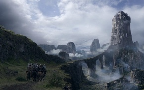 Game of Thrones, fantasy art, mountain, The Eyrie, TV, castle