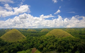 nature, landscape, trees, mountain, Philippines, hill