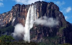 waterfall, landscape, mountain, rock, nature, Venezuela