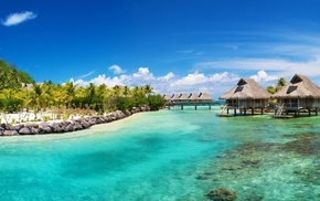 Bora Bora, nature, sea