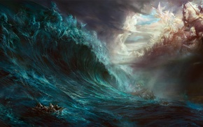 fantasy art, Heaven  Hell