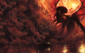 fantasy art, H. P. Lovecraft, Cthulhu